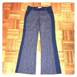 Anthropologie Elevenses wise leg stretch trousers